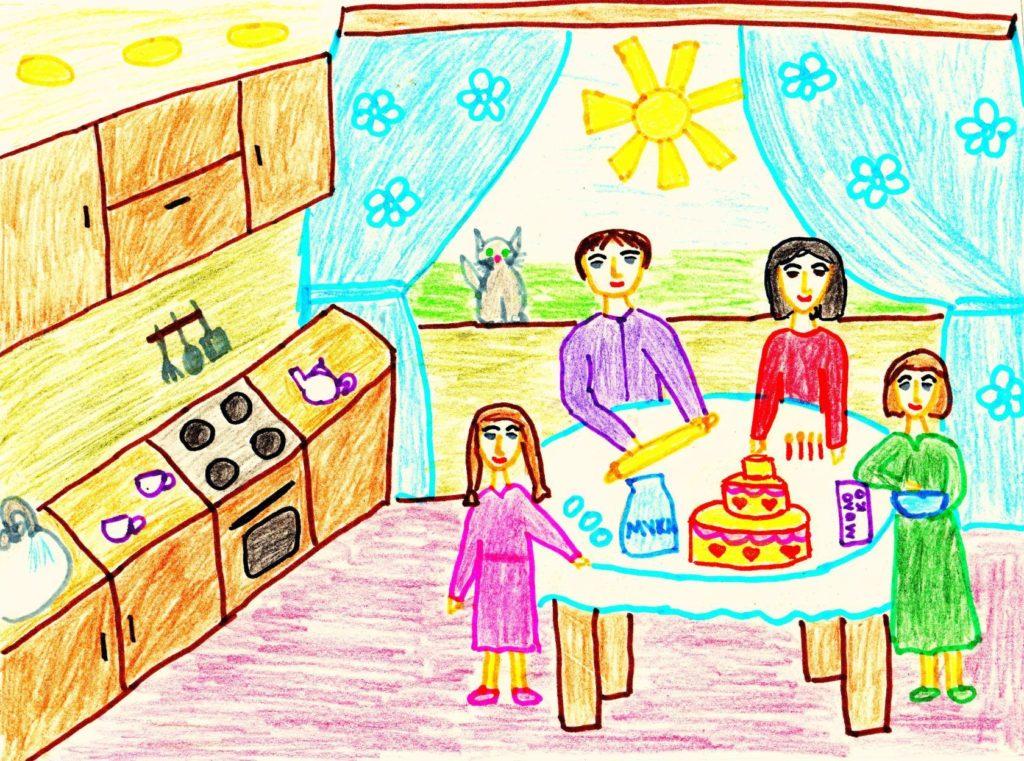Детские рисунки профком Пнтз